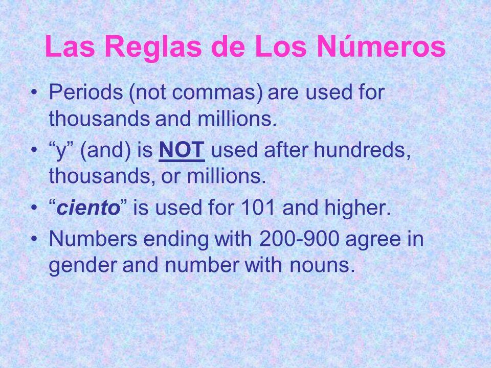Las Reglas de Los Números