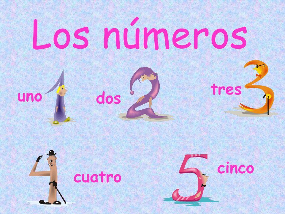 Los números tres uno dos cinco cuatro