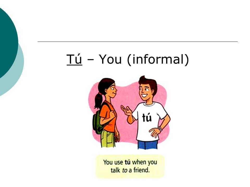 Tú – You (informal)