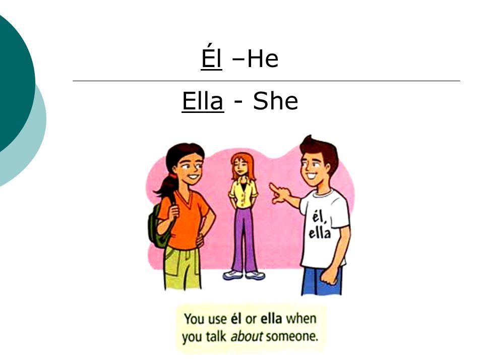 Él –He Ella - She