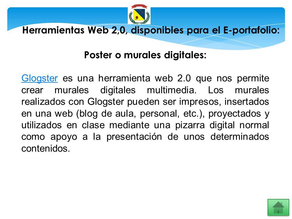 Herramientas Web 2,0, disponibles para el E-portafolio: