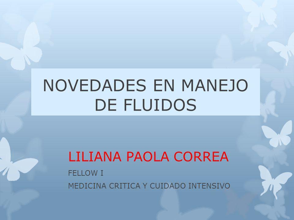 NOVEDADES EN MANEJO DE FLUIDOS