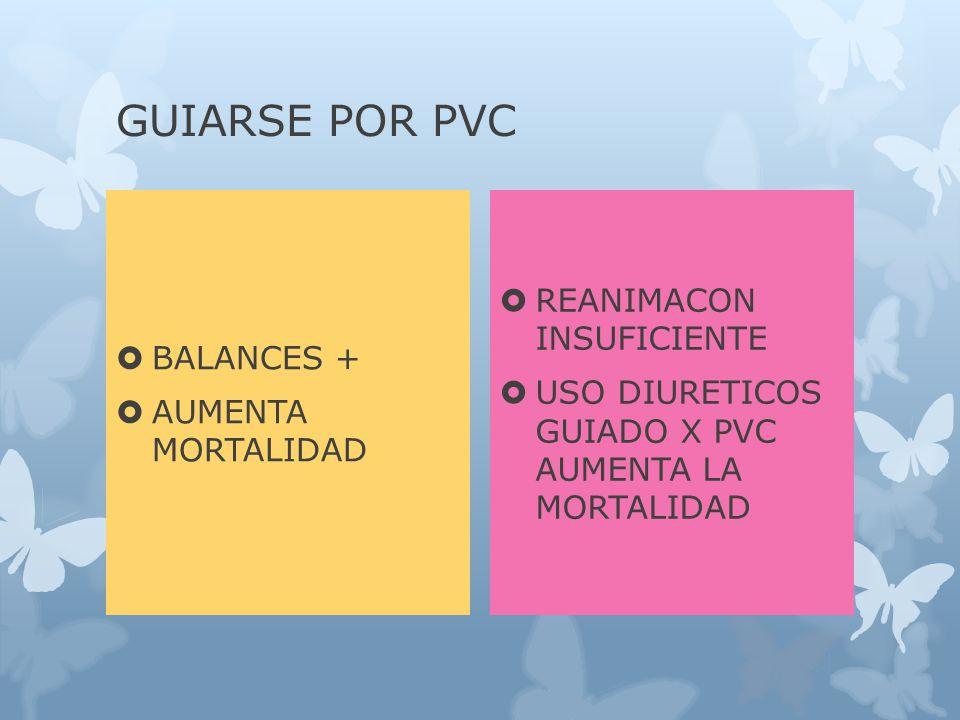 GUIARSE POR PVC REANIMACON INSUFICIENTE BALANCES +