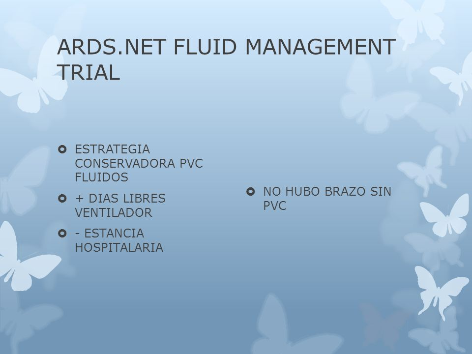 ARDS.NET FLUID MANAGEMENT TRIAL