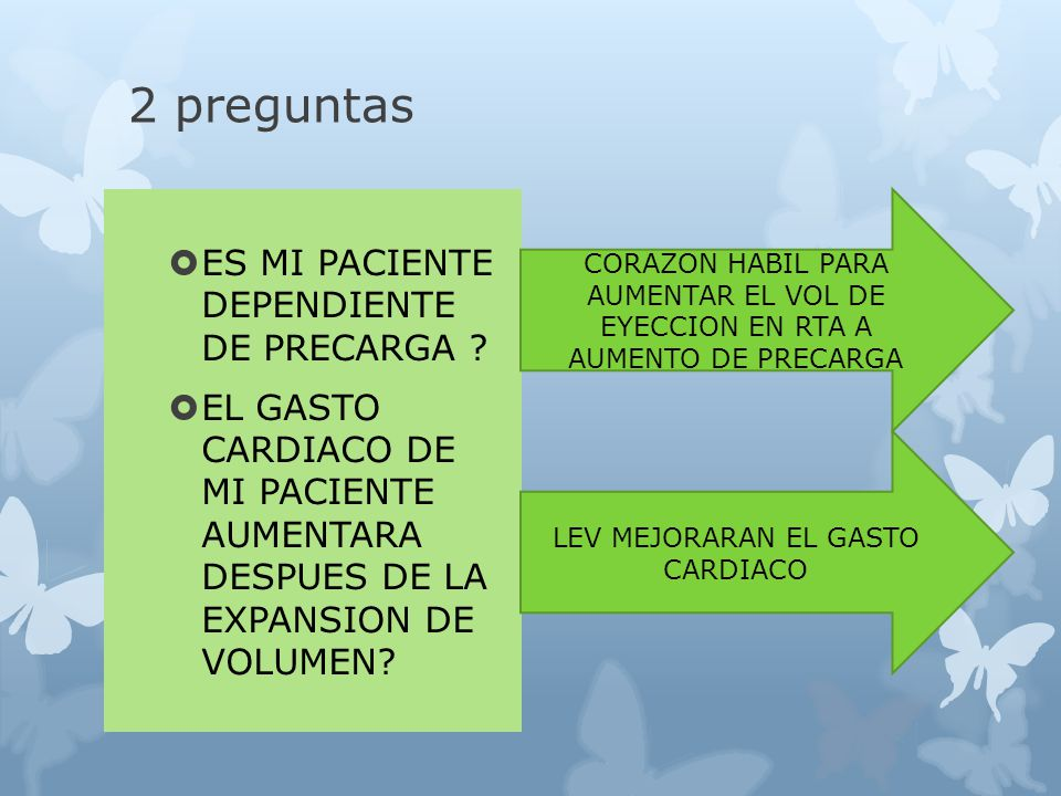 LEV MEJORARAN EL GASTO CARDIACO