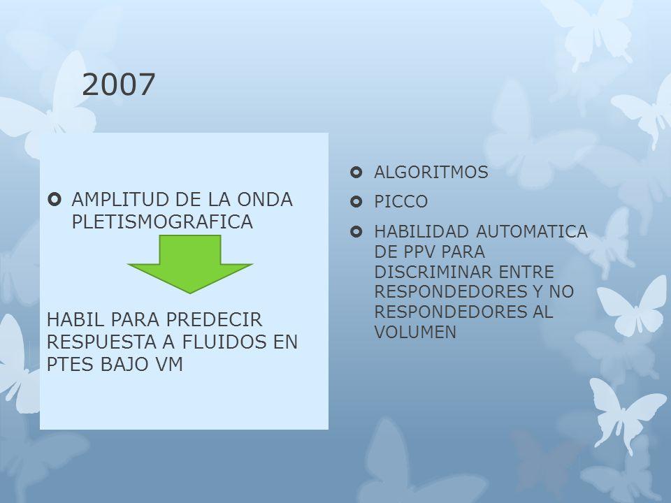 2007 AMPLITUD DE LA ONDA PLETISMOGRAFICA