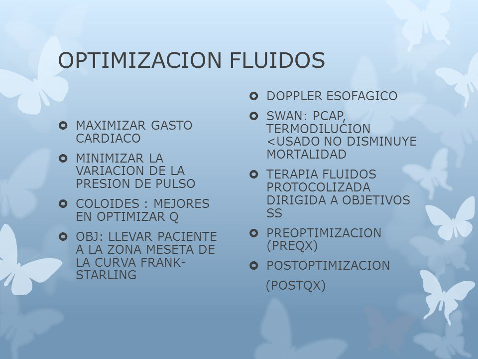 OPTIMIZACION FLUIDOS DOPPLER ESOFAGICO