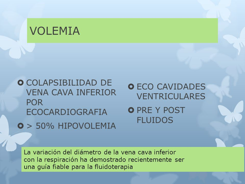 VOLEMIA COLAPSIBILIDAD DE VENA CAVA INFERIOR POR ECOCARDIOGRAFIA
