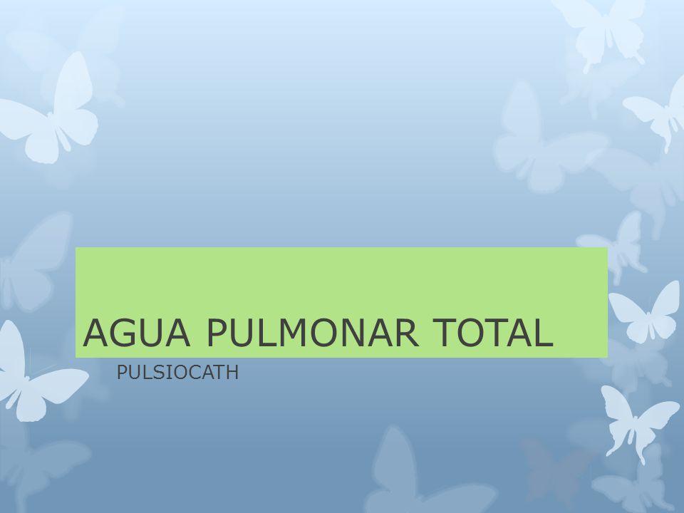 AGUA PULMONAR TOTAL PULSIOCATH