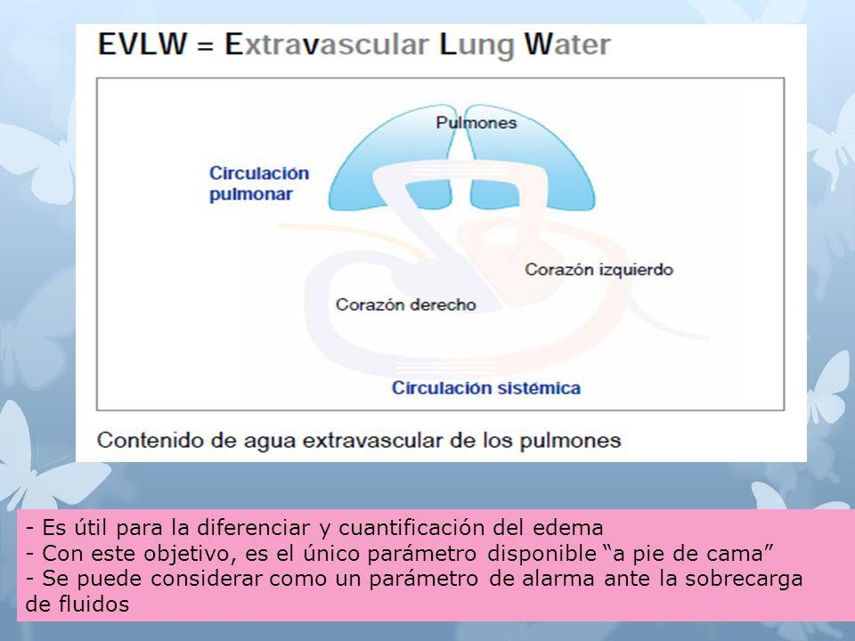 - Es útil para la diferenciar y cuantificación del edema