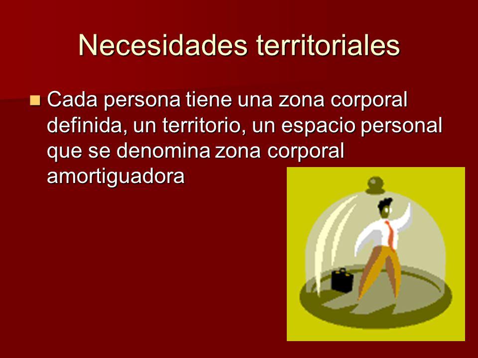 Necesidades territoriales