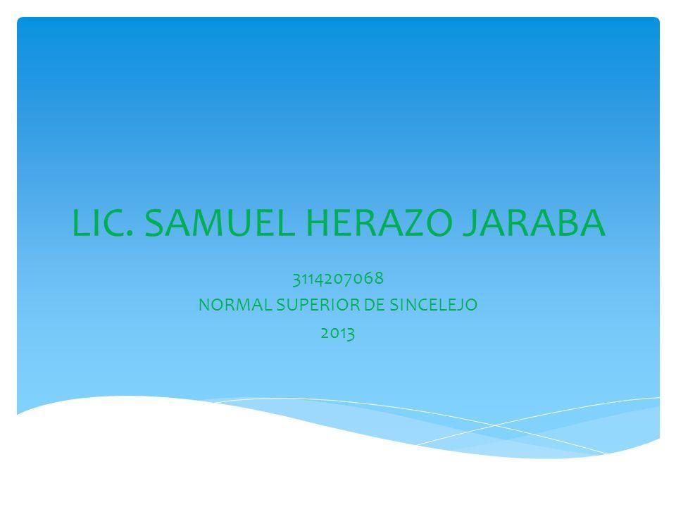 LIC. SAMUEL HERAZO JARABA