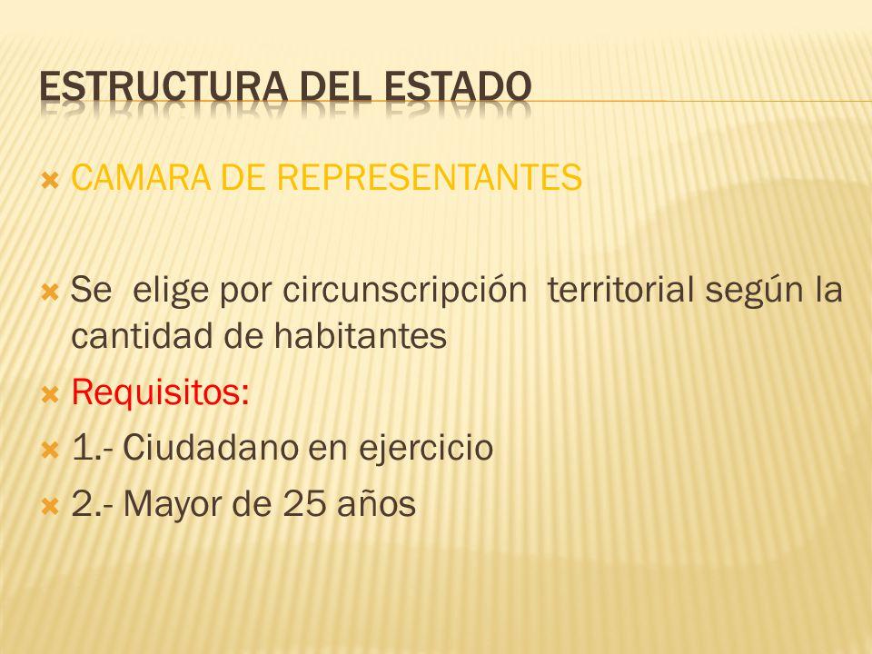 Estructura del Estado CAMARA DE REPRESENTANTES