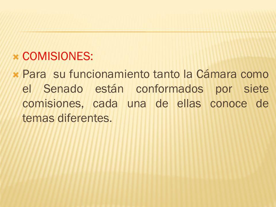 COMISIONES: