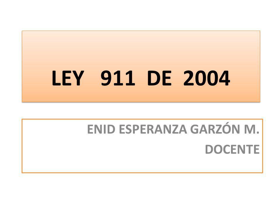 ENID ESPERANZA GARZÓN M. DOCENTE
