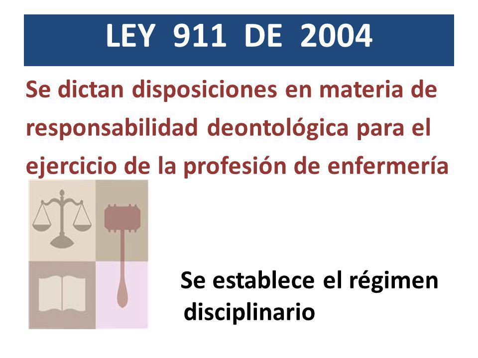 LEY 911 DE 2004