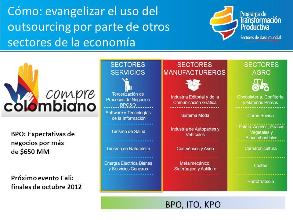 Cómo: evangelizar el uso del outsourcing por parte de otros sectores de la economía