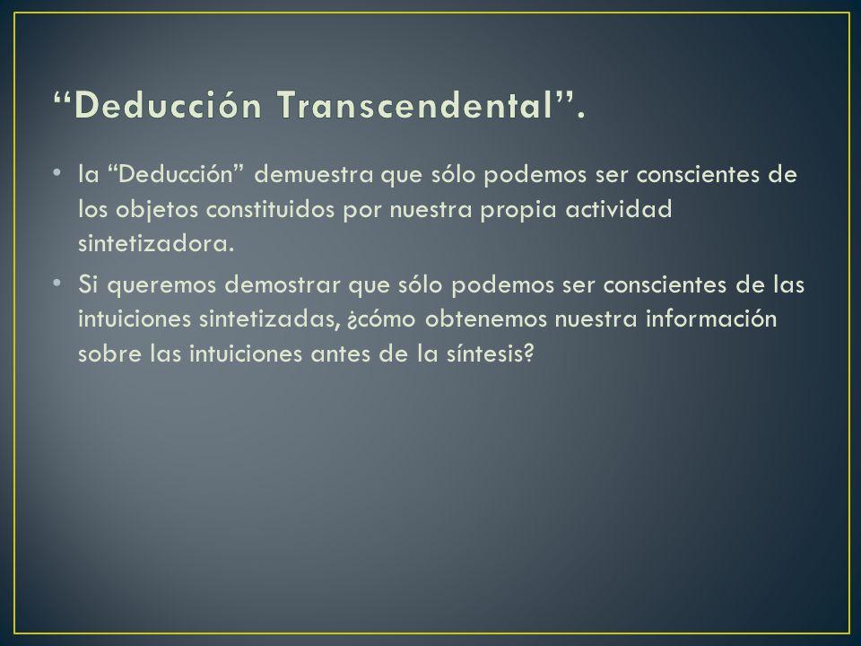 Deducción Transcendental .