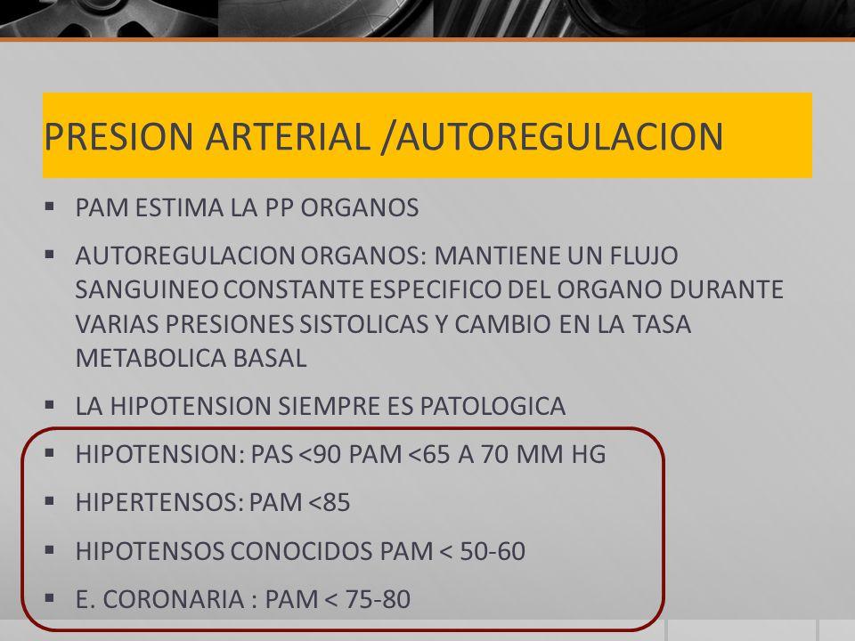 PRESION ARTERIAL /AUTOREGULACION