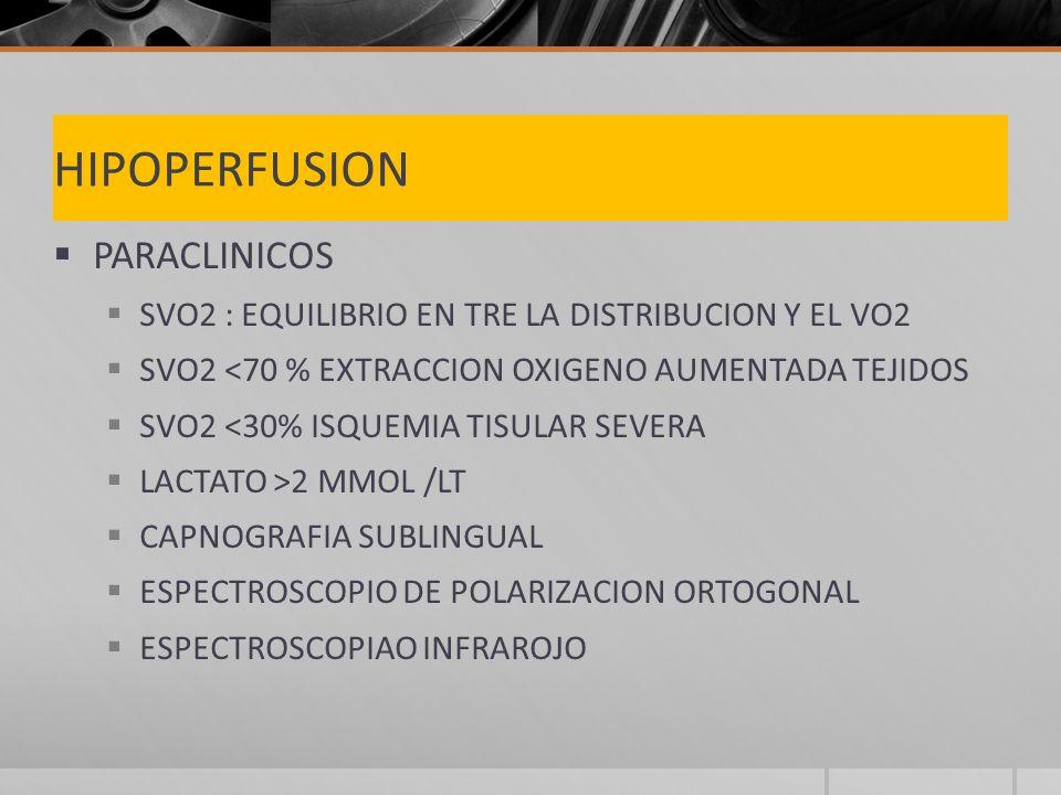 HIPOPERFUSION PARACLINICOS