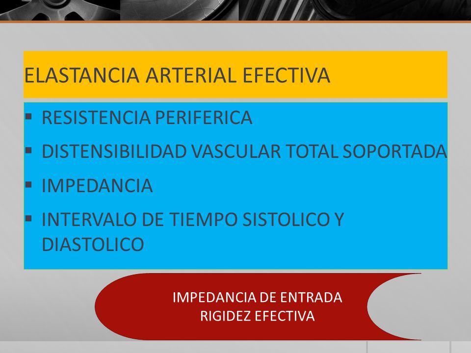 ELASTANCIA ARTERIAL EFECTIVA
