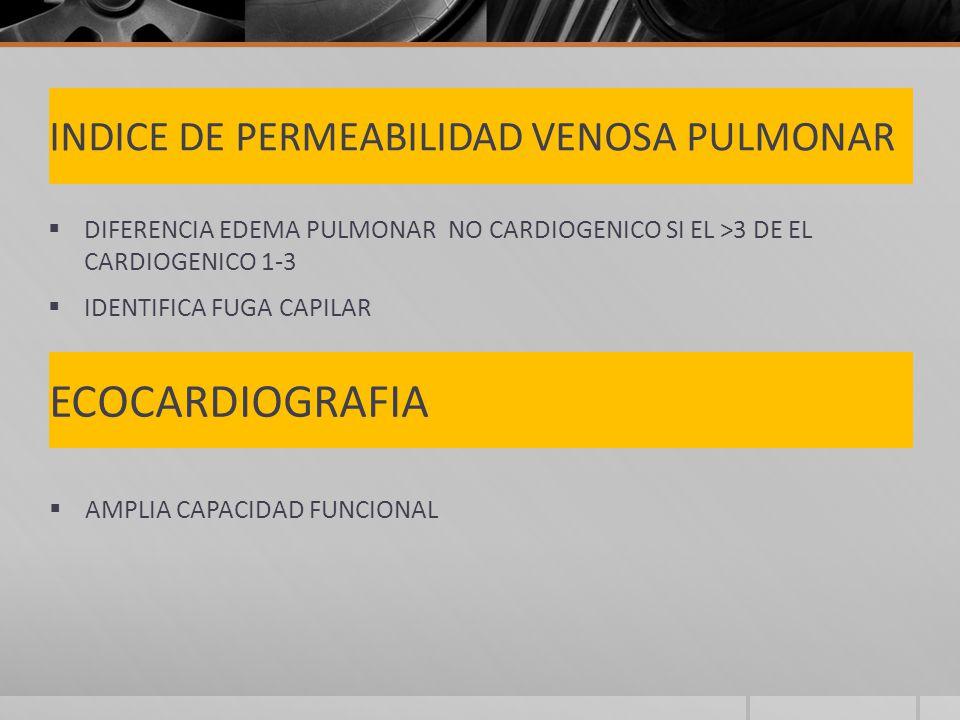 INDICE DE PERMEABILIDAD VENOSA PULMONAR