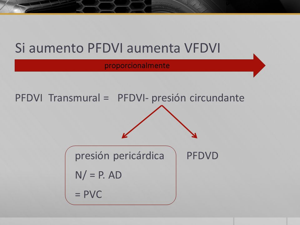 Si aumento PFDVI aumenta VFDVI