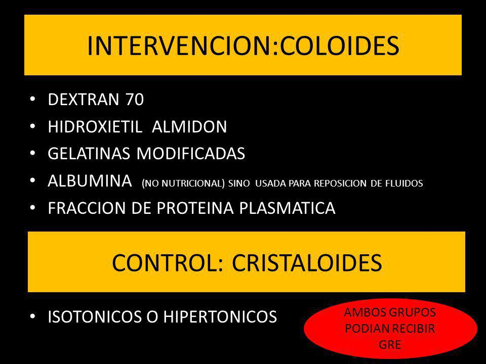 INTERVENCION:COLOIDES