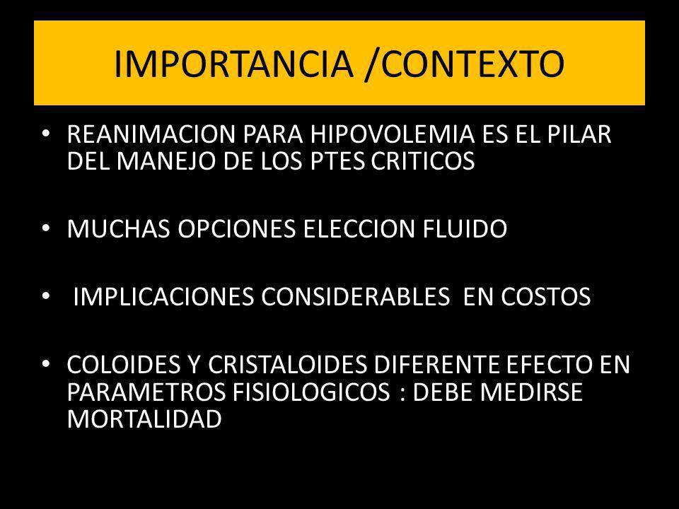 IMPORTANCIA /CONTEXTO