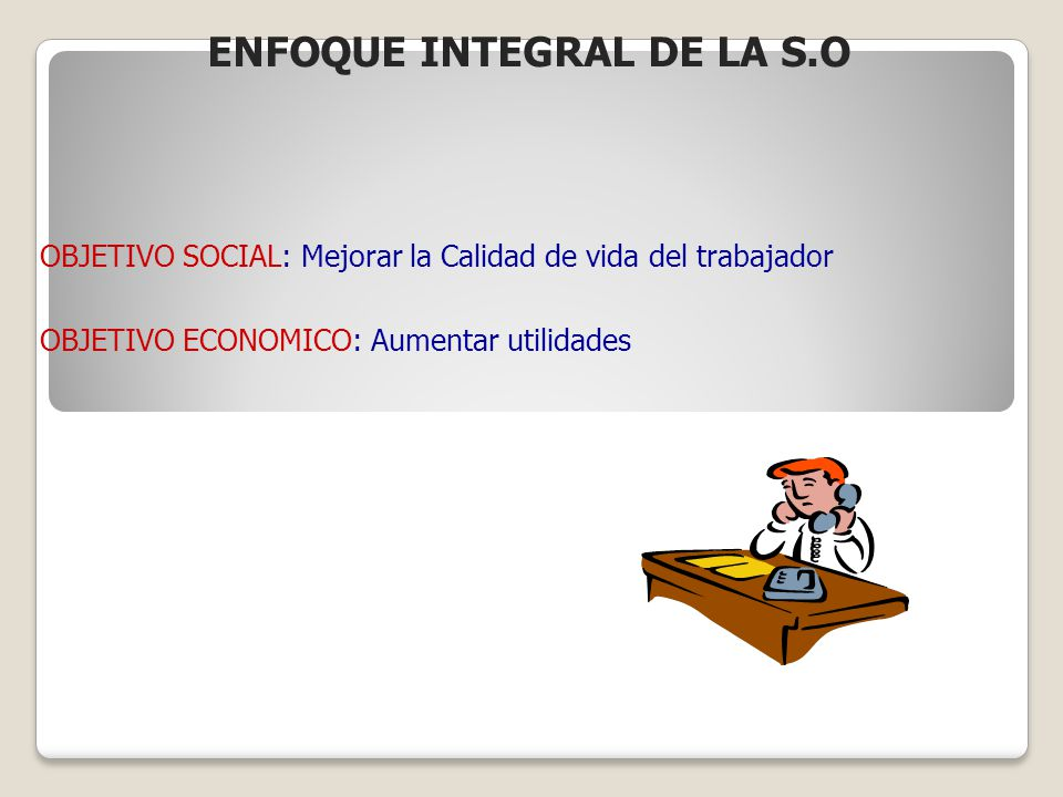ENFOQUE INTEGRAL DE LA S.O
