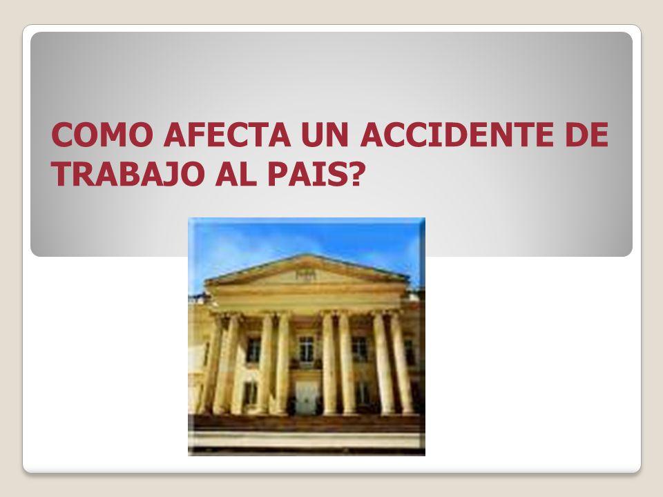 COMO AFECTA UN ACCIDENTE DE TRABAJO AL PAIS