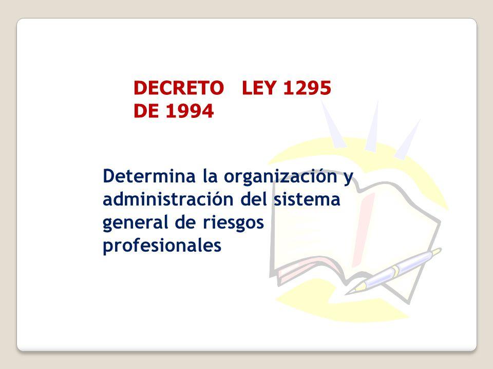 DECRETO LEY 1295 DE 1994.