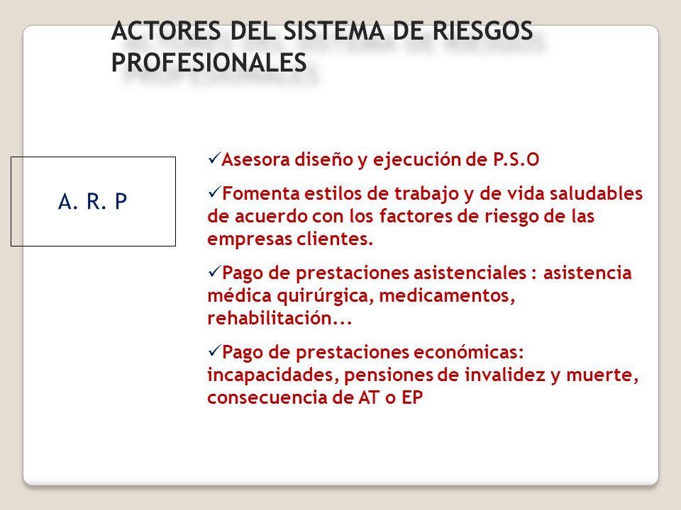 ACTORES DEL SISTEMA DE RIESGOS PROFESIONALES
