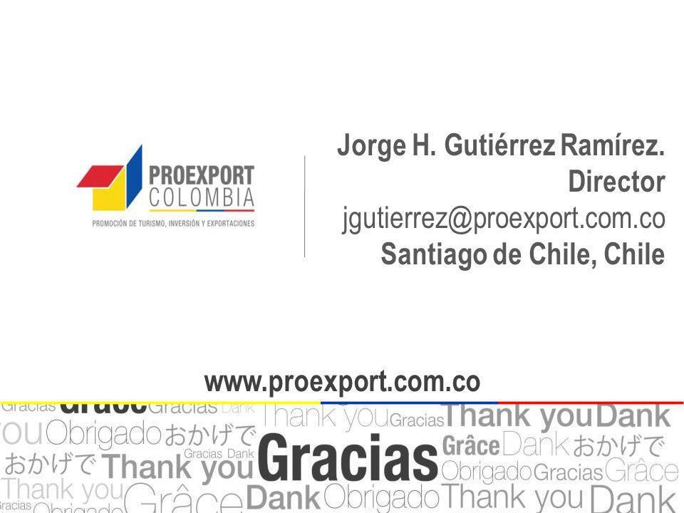 Jorge H. Gutiérrez Ramírez. Director jgutierrez@proexport.com.co
