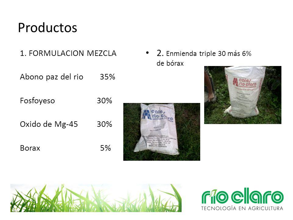 Productos 2. Enmienda triple 30 más 6% de bórax