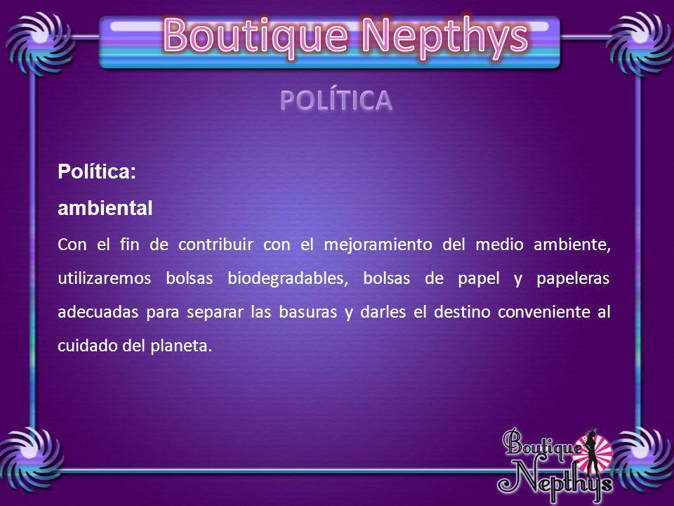 POLÍTICA Política: ambiental