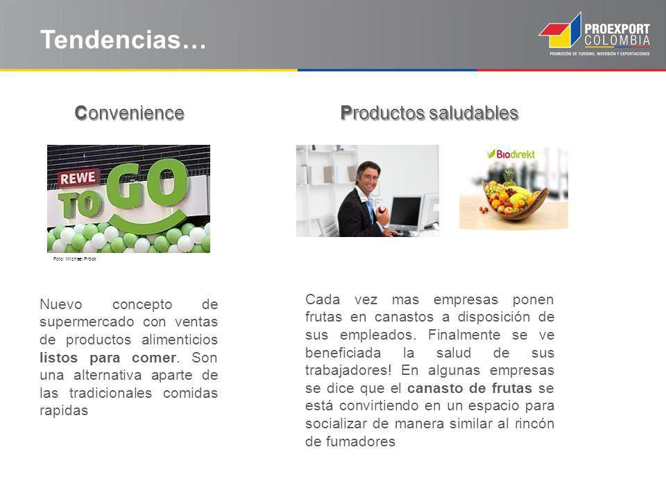 Tendencias… Convenience Productos saludables