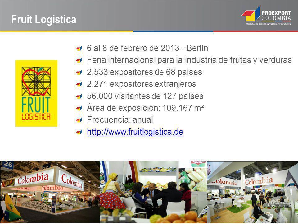 Fruit Logistica 6 al 8 de febrero de 2013 - Berlín