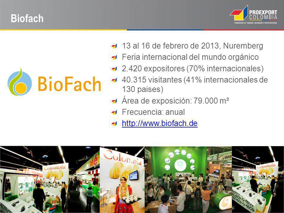 Biofach 13 al 16 de febrero de 2013, Nuremberg