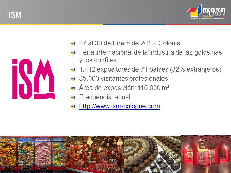 ISM 27 al 30 de Enero de 2013, Colonia