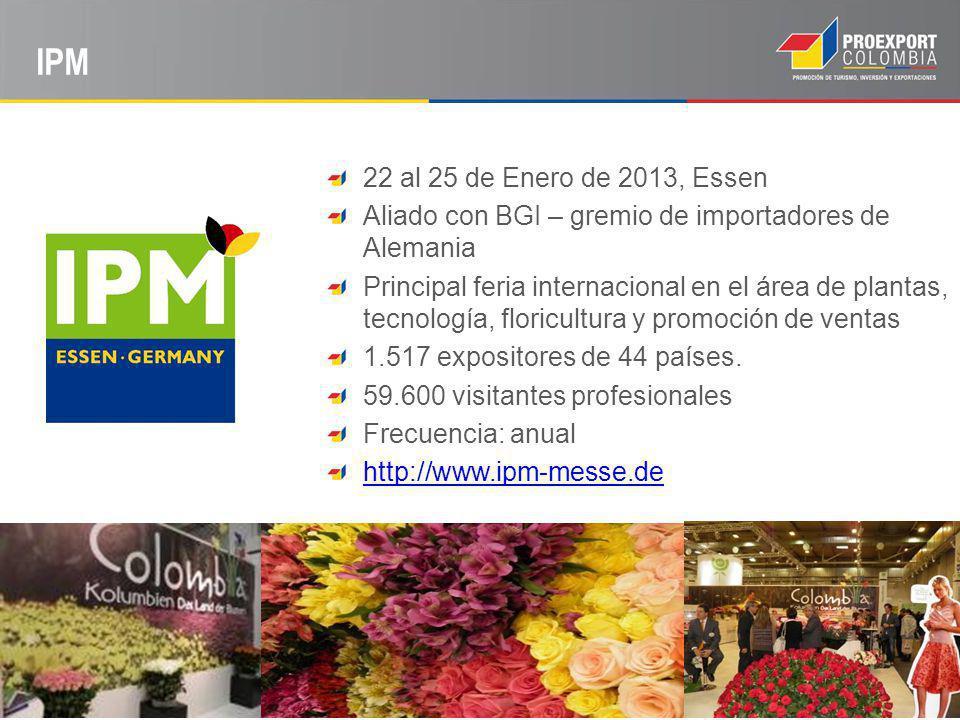 IPM 22 al 25 de Enero de 2013, Essen. Aliado con BGI – gremio de importadores de Alemania.