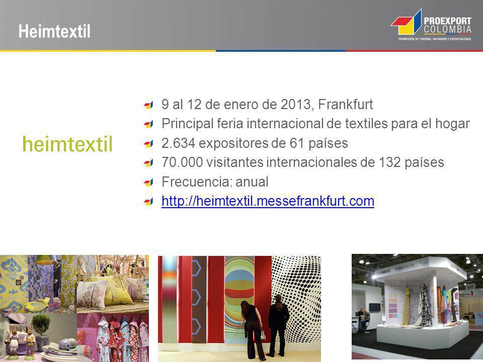 Heimtextil 9 al 12 de enero de 2013, Frankfurt