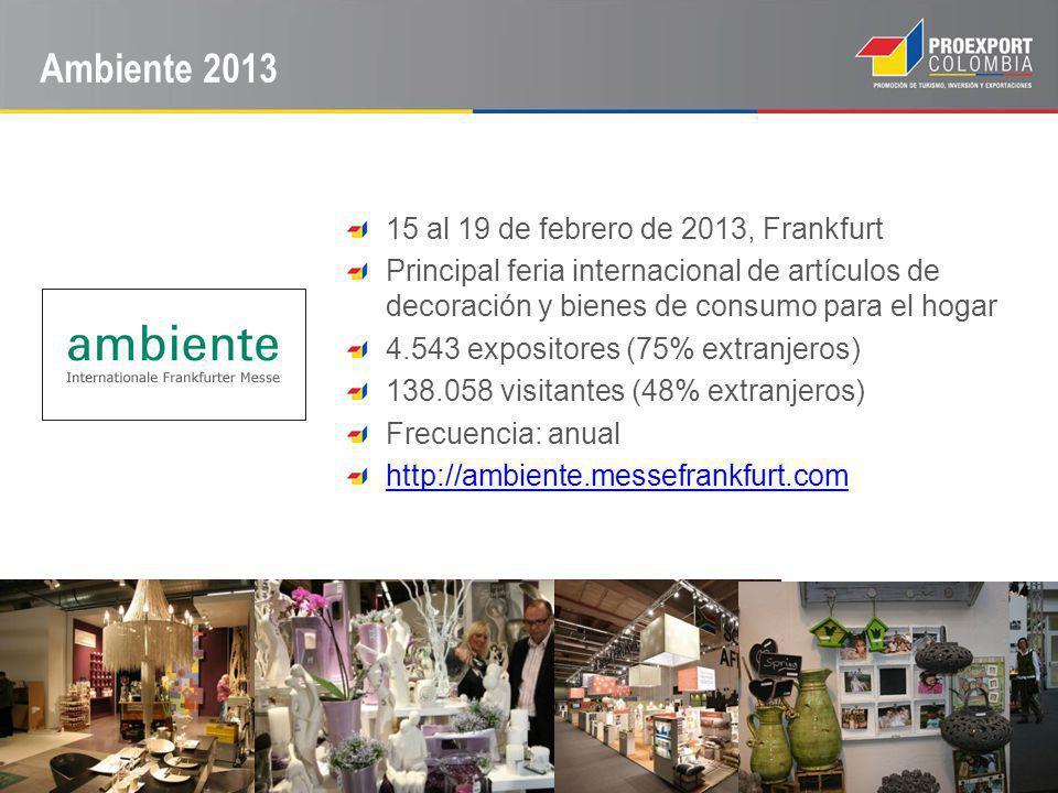 Ambiente 2013 15 al 19 de febrero de 2013, Frankfurt