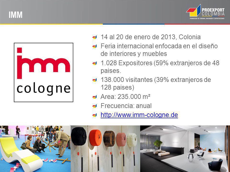 IMM 14 al 20 de enero de 2013, Colonia