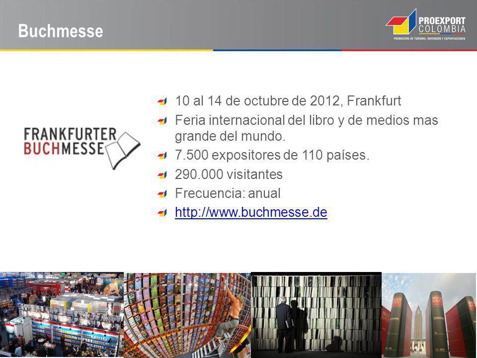 Buchmesse 10 al 14 de octubre de 2012, Frankfurt