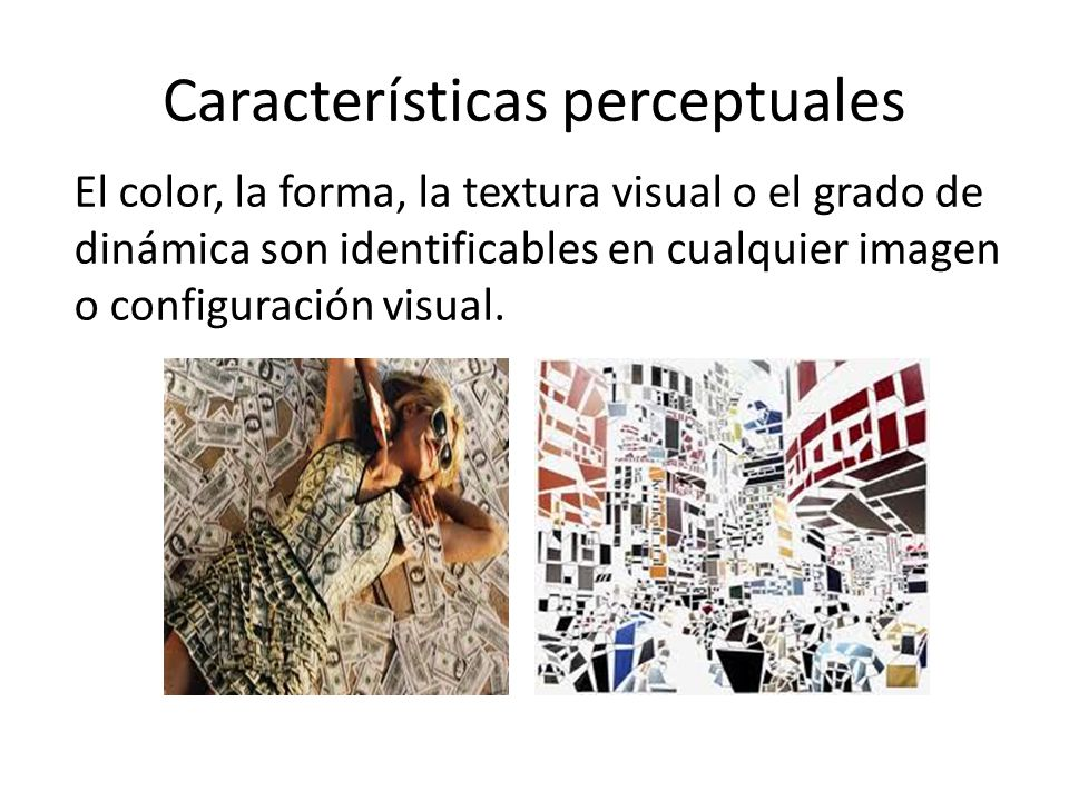 Características perceptuales