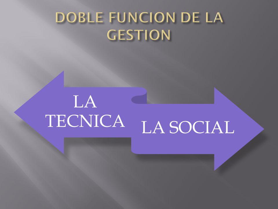 DOBLE FUNCION DE LA GESTION
