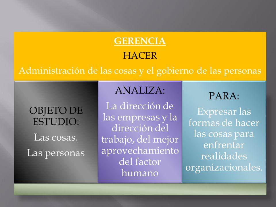 Administración de las cosas y el gobierno de las personas