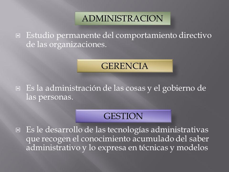 ADMINISTRACION GERENCIA GESTION