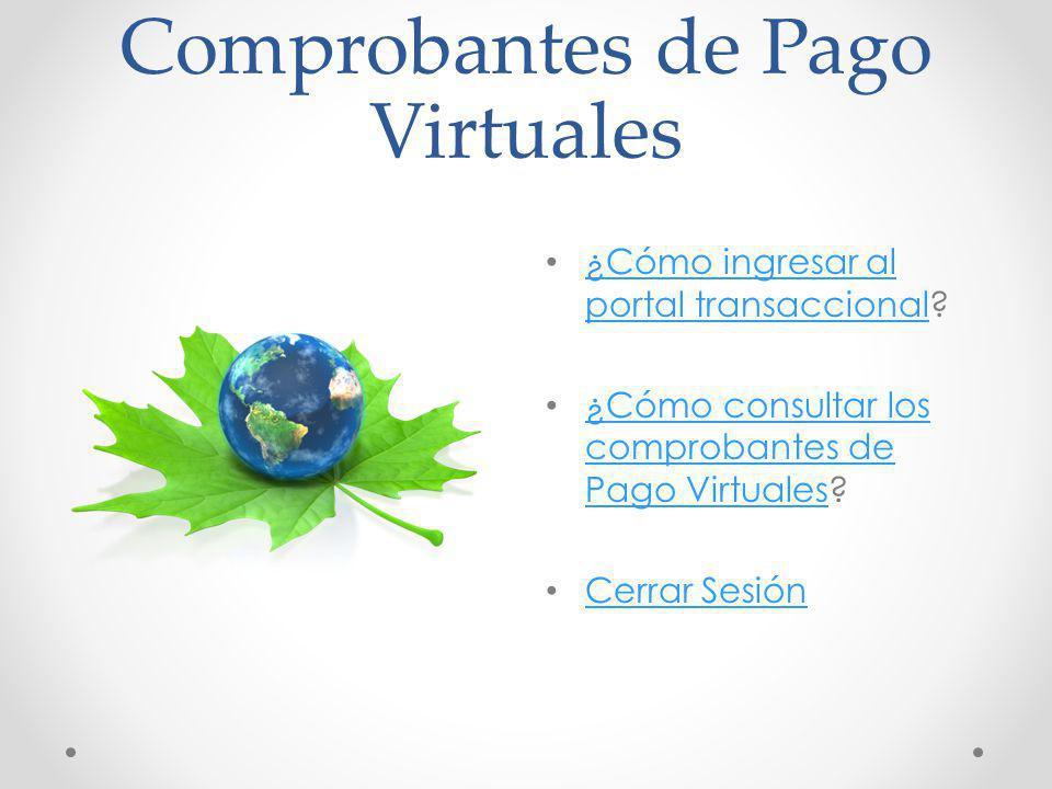 Comprobantes de Pago Virtuales
